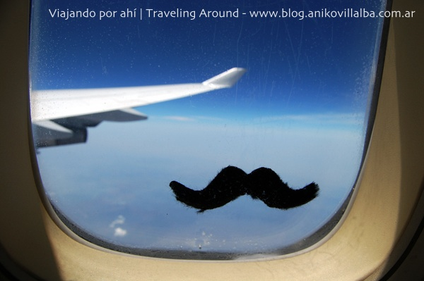 Bigote volador en el avión de Buenos Aires a Frankfurt
