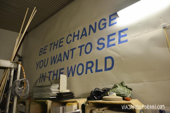 """esto: """"Sé el cambio que quieres ver en el mundo"""""""