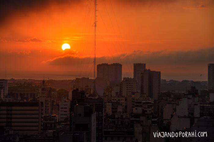 Así amanecía en Buenos Aires