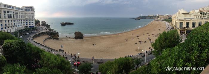 Acá estoy. Biarritz.