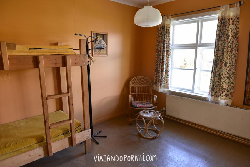 El hostel Hafaldan por dentro (habitaciones compartidas)