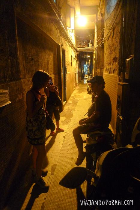 Con amigos en Macau.