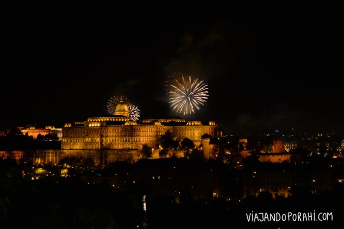 Mi mamá llegó el día de Szent István király y vio los fuegos artificiales y festejos en honor al primer rey de Hungría.