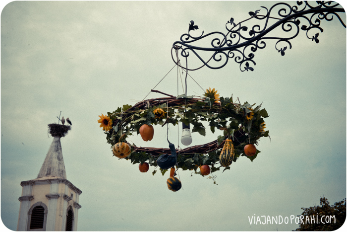 Y una lámpara rara en una callecita de un pueblo austríaco en el que nos perdimos.
