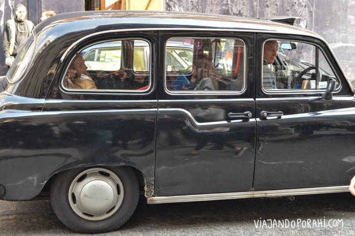 Y taxis también hay en todos lados (aunque caros!)