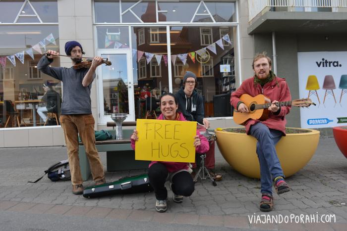 Islandia, donde los abrazos gratis son muy bien recibidos.
