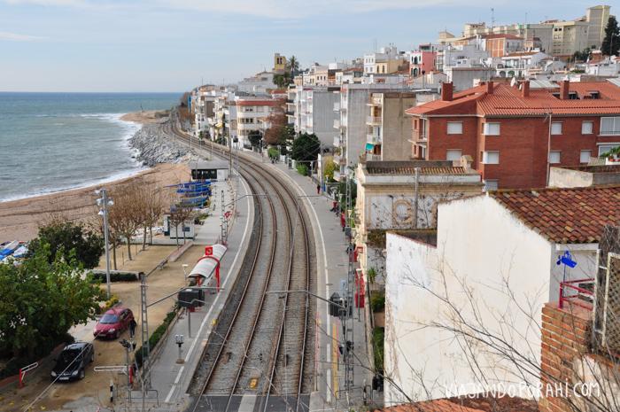 Las vías en Sant Pol