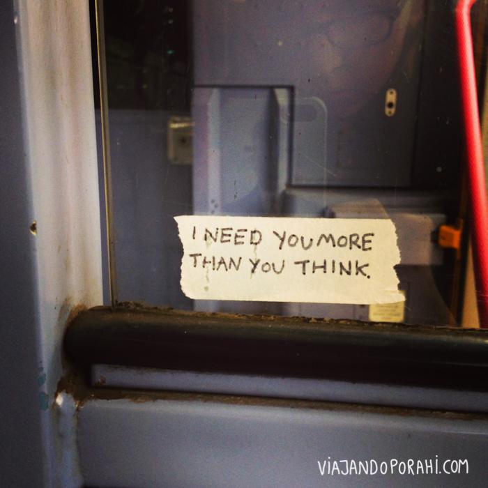 Mensaje scouser que encontré en el tren.