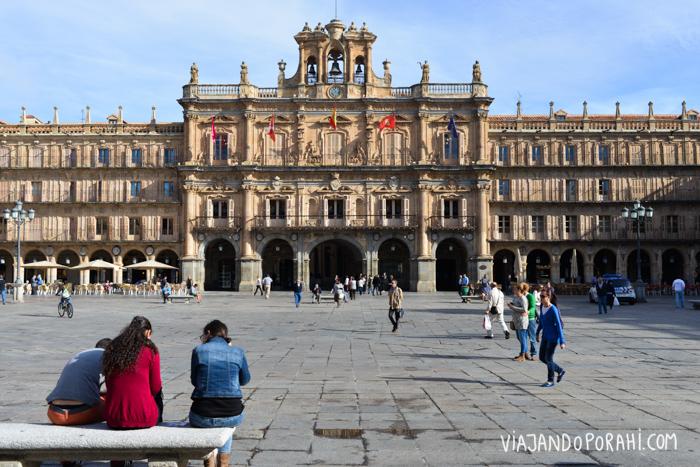 Una de las primeras imágenes que tengo de la ciudad: la Plaza Mayor.