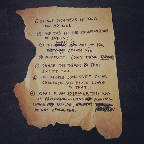Y los textos de Austin Kleon (fuente: austinkleon.com)