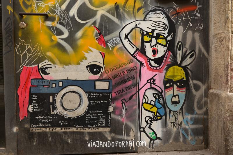 Algo de arte callejero visto en Barcelona
