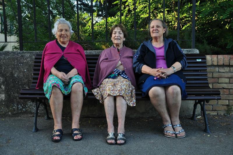 Elena, Sonia y Matilde.