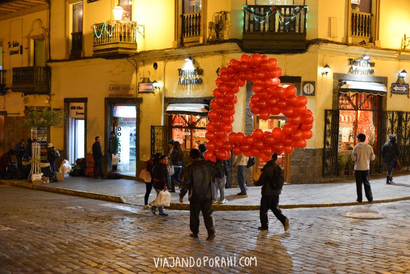 Un corazón por las calles de Cusco