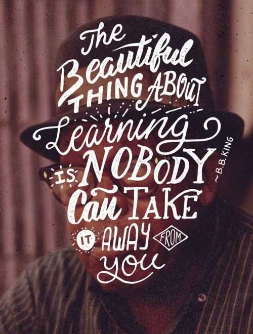 """""""Lo lindo de aprender es que nadie te lo puede sacar"""""""