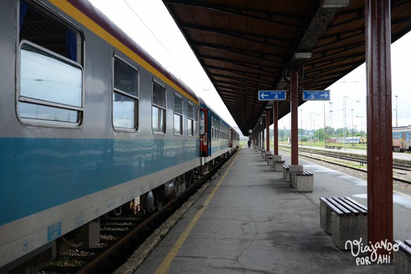 En la estación de tren de Belgrado