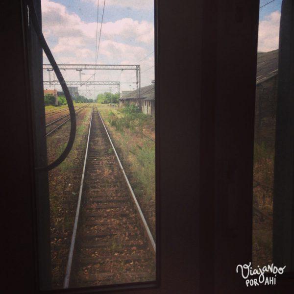 Y la vista desde el último vagón