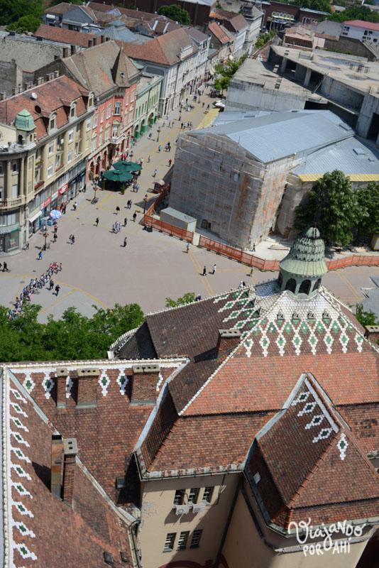 Subimos a la torre para mirar la ciudad desde arriba