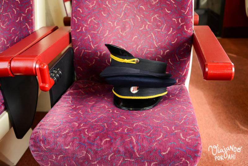 El asiento del controlador del tren
