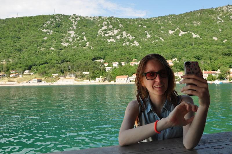 Acá con mi segunda cámara: el teléfono. Juro que no me estaba sacando una selfie.