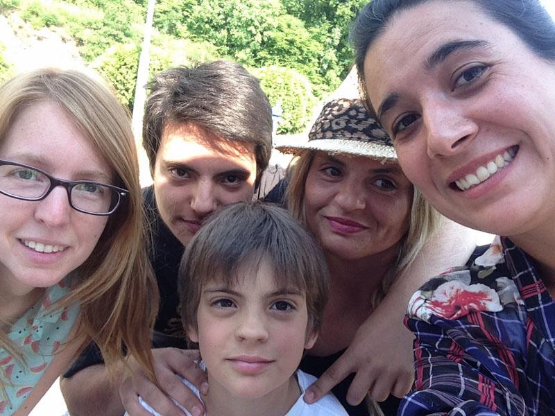 Con una familia de Couch en Croacia :)
