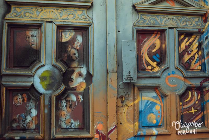 Puertas pintadas
