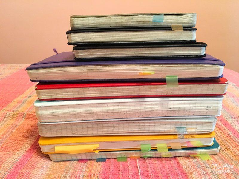 Gran parte del libro salió de anotaciones hechas en estos cuadernos