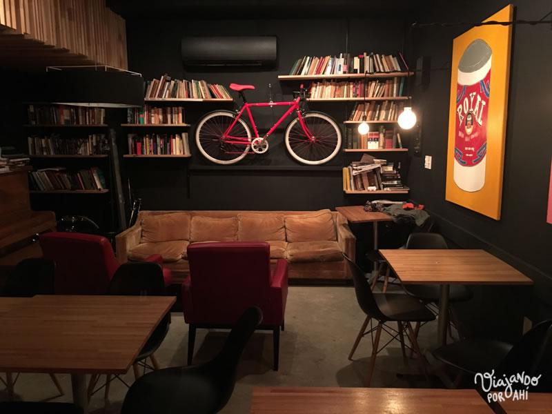 Acá fue la presentación, en el café La Madriguera.