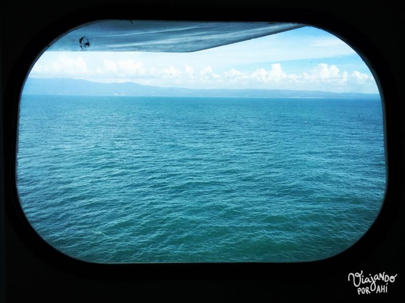 La vista desde la ventana de mi camarote