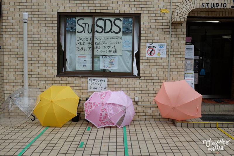 Paraguas secándose