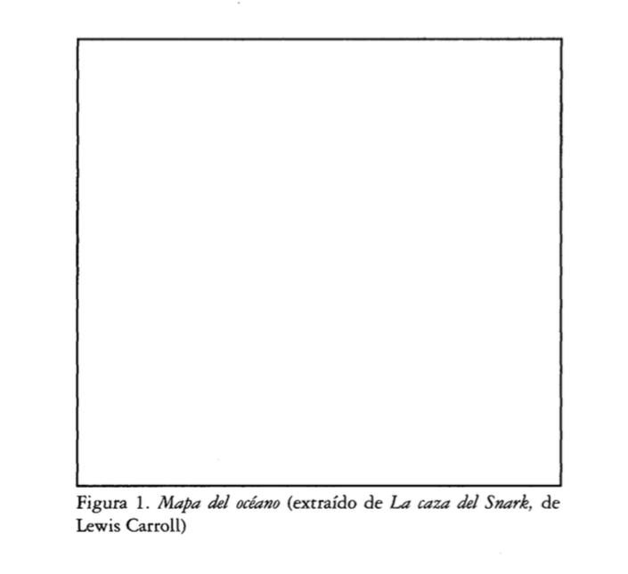 """El mapa del océano según Lewis Carroll (visto en el libro """"Especies de espacios"""" de Georges Perec)"""