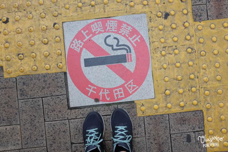 Prohibido fumar en la calle.