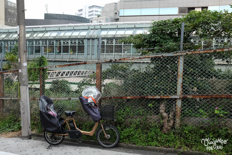 Las bicis estacionadas en cualquier lado, la gran mayoría sin atar.