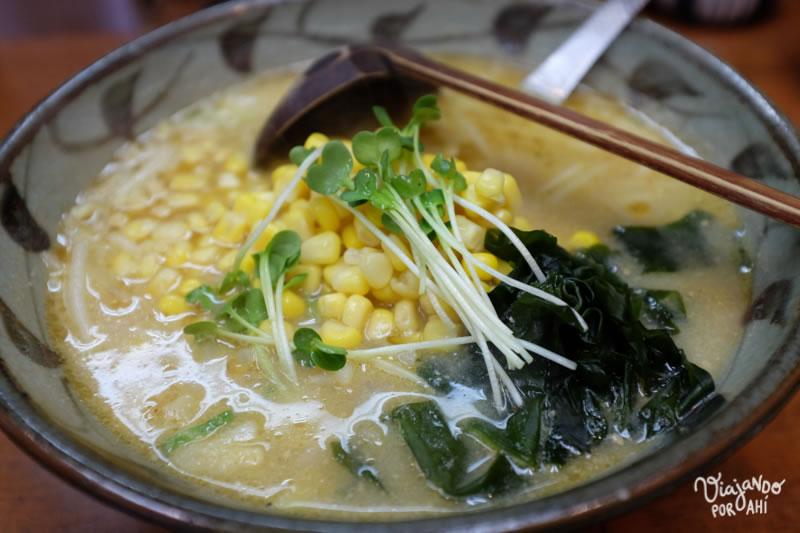 El mejor ramen que probé. Un plato así suele costar unos 750-800 ¥