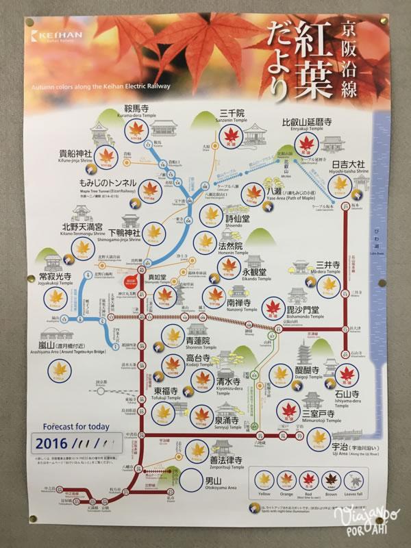 El mapa del otoño